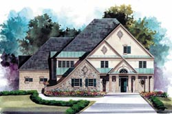 European Style Home Design Plan: 24-200