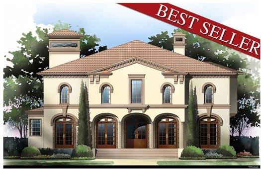 wonderful italian style bedroom design | Italian House Plan - 4 Bedrooms, 4 Bath, 3073 Sq Ft Plan ...