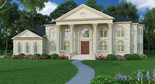 Georgian Style House Plans Plan: 24-205
