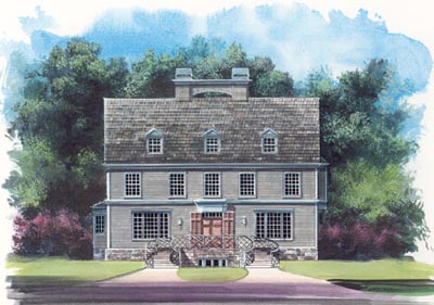 Early-american Style House Plans Plan: 24-208