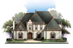 European Style Home Design Plan: 24-210