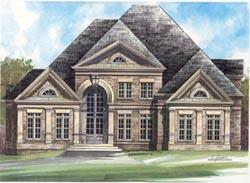 European Style Home Design Plan: 24-211