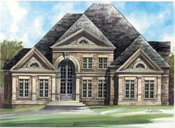 European Style Home Design Plan: 24-212