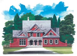 European Style Home Design Plan: 24-216