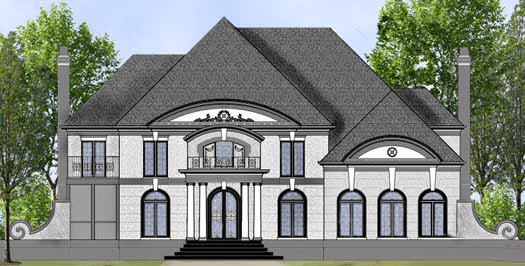 Colonial Style Home Design Plan: 24-219