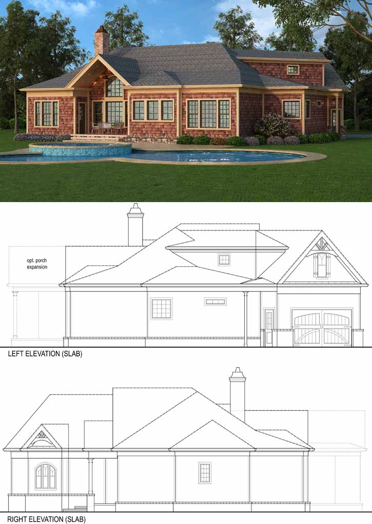 Rear Elevation Plan: 24-221