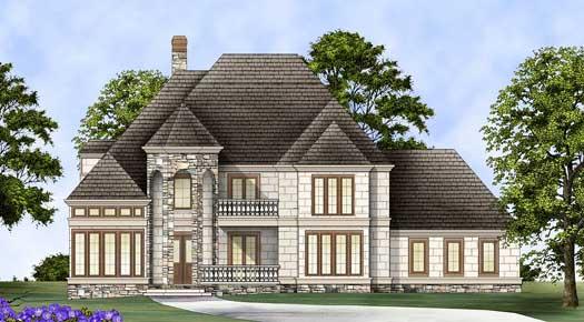 European Style House Plans Plan: 24-222