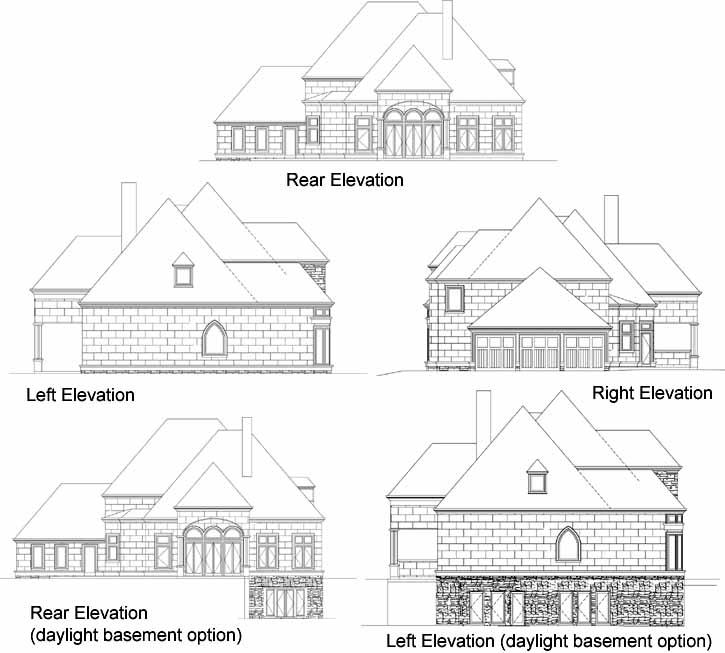 Rear Elevation Plan: 24-222