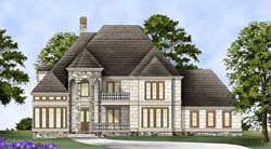 European Style Home Design Plan: 24-222