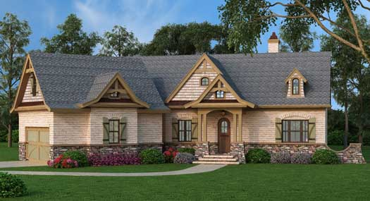Country Style Home Design Plan: 24-223