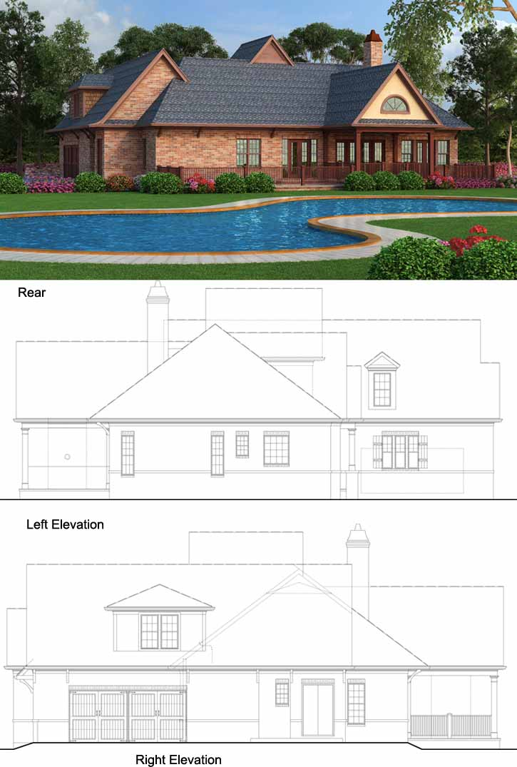 Rear Elevation Plan: 24-225