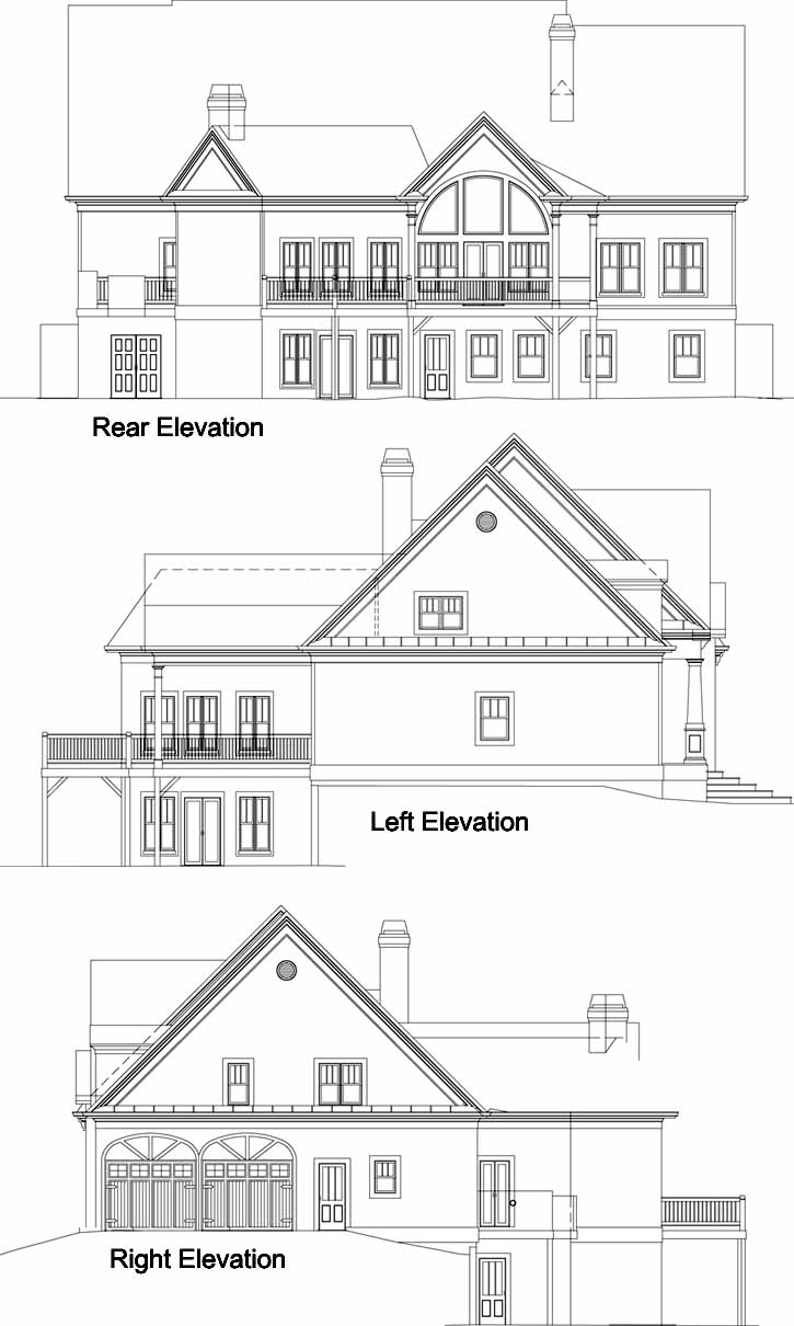 Rear Elevation Plan: 24-226