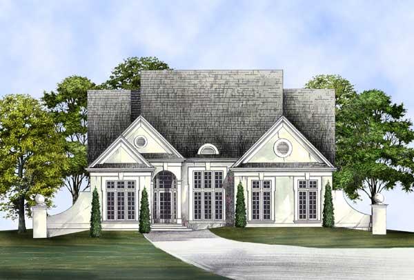 European Style Home Design Plan: 24-227
