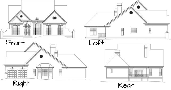 Rear Elevation Plan: 24-227