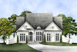 European Style House Plans Plan: 24-227