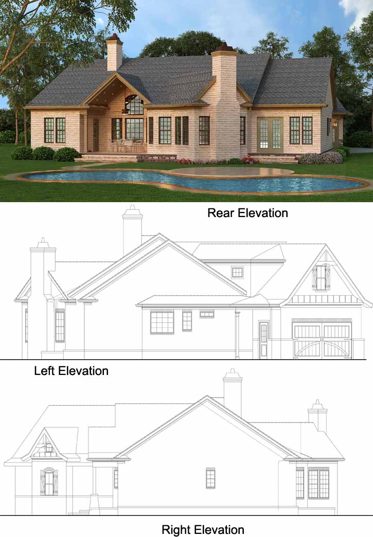 Rear Elevations Plan:24-228