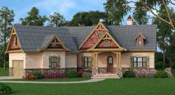 European Style Home Design Plan: 24-228