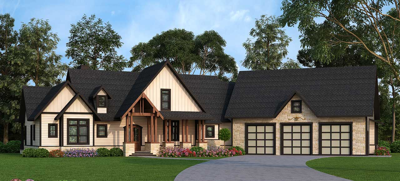 Traditional Style Home Design Plan: 24-229