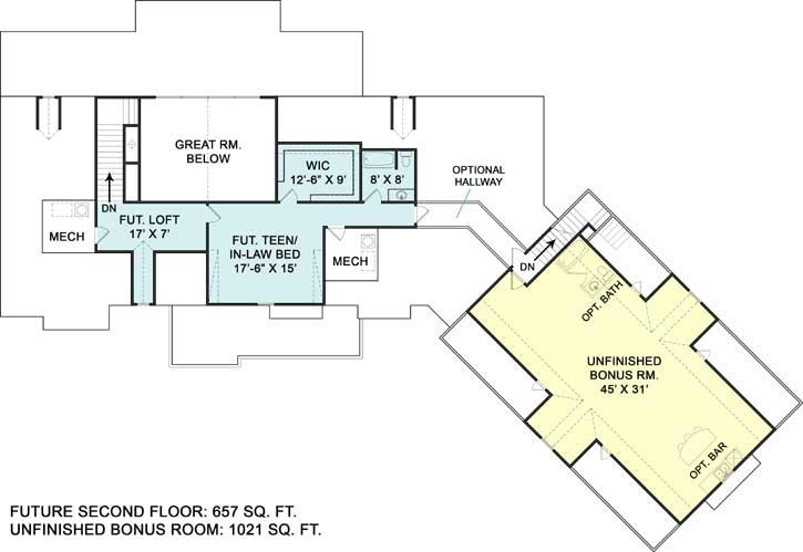 Upper/Second Floor Plan: 24-229