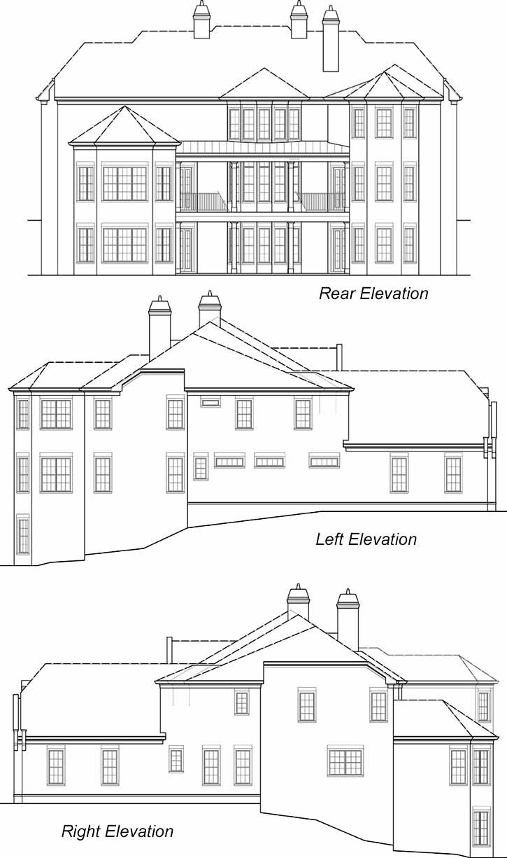 Rear Elevation Plan: 24-230