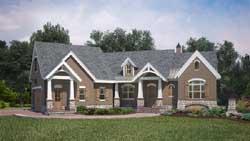 Craftsman Style Home Design Plan: 24-234