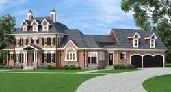 European Style Home Design Plan: 24-235