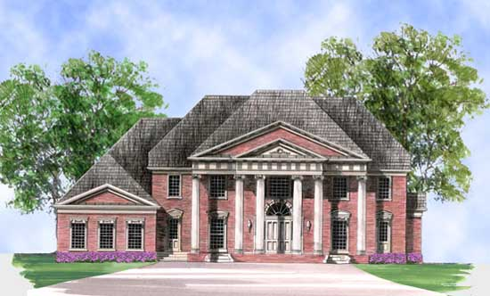 European Style House Plans Plan: 24-236