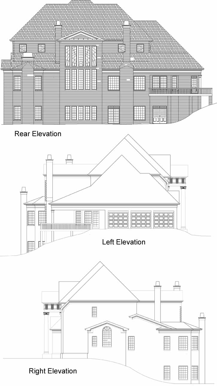 Rear Elevation Plan: 24-236