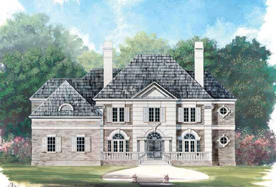 European Style Home Design Plan: 24-237