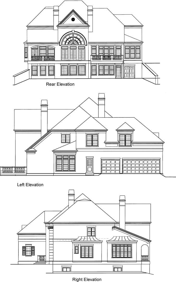Rear Elevation Plan: 24-237