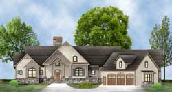 Country Style Home Design Plan: 24-239