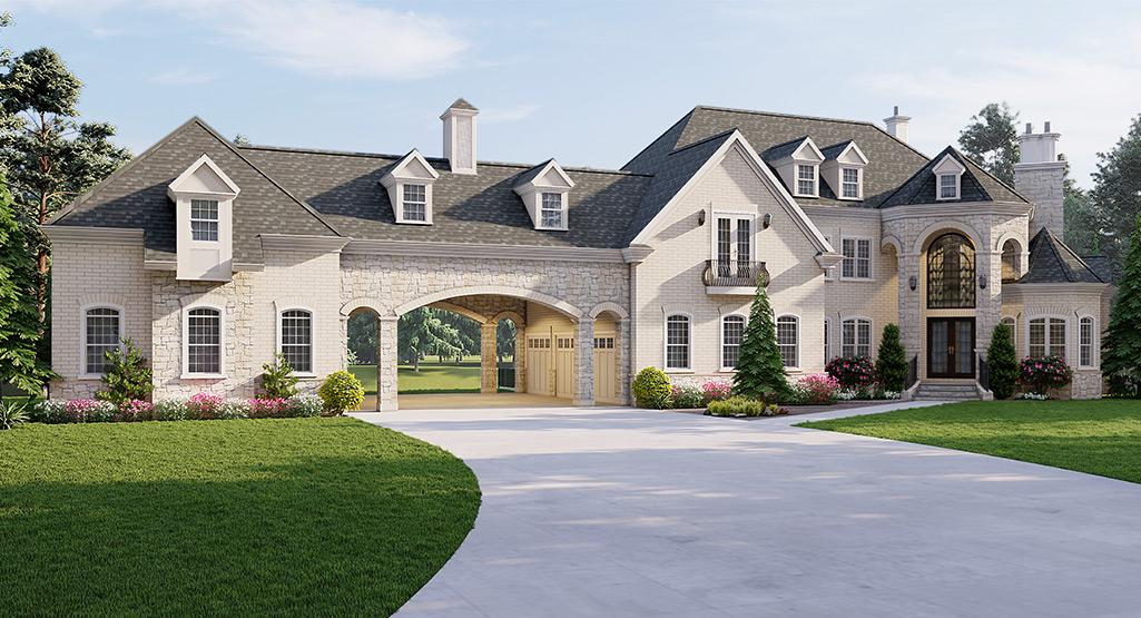 European Style Home Design Plan: 24-240