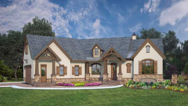 Country Style Home Design Plan: 24-243