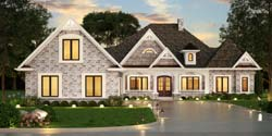 Ranch Style Home Design Plan: 24-245