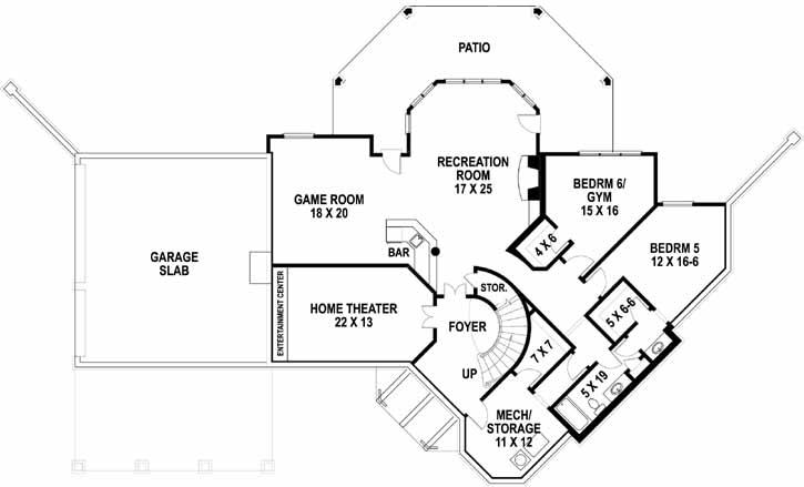 Lower Floor Plan: 24-246