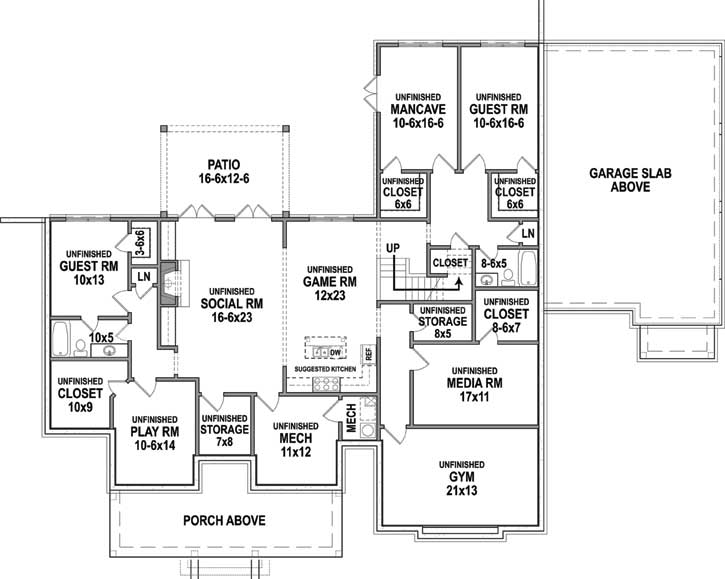 Lower Floor Plan: 24-247