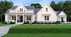 Modern-Farmhouse Style Home Design Plan: 24-247