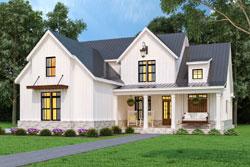 Modern-Farmhouse Style House Plans Plan: 24-250