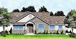 Traditional Style Home Design Plan: 25-160