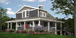 Country Style Home Design Plan: 26-151