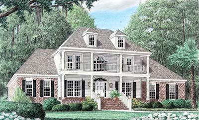 Plantation Style House Plans Plan: 27-157