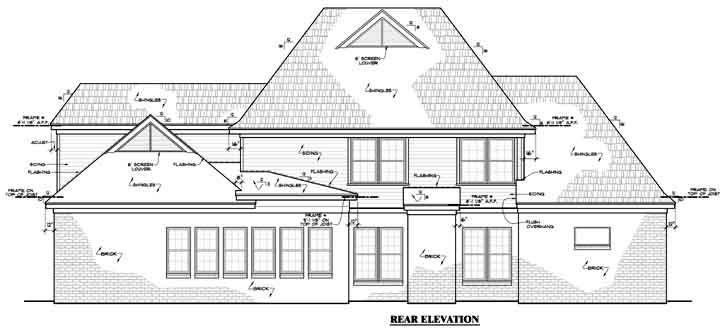 Rear Elevation Plan: 27-157