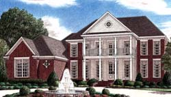 Plantation Style Home Design Plan: 27-168