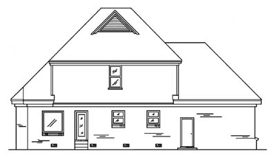 Rear Elevation Plan: 27-177