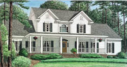 Country Style Floor Plans 27-184