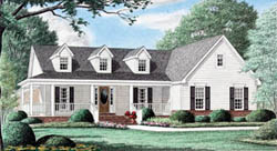 Country Style Home Design Plan: 27-188