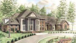 Georgian Style Home Design Plan: 27-225