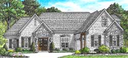 European Style House Plans Plan: 27-252
