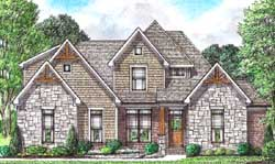 Country Style Home Design Plan: 27-258