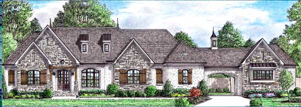 English-country Style Floor Plans Plan: 27-260